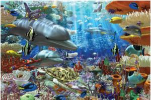 Quebra-cabeça emoldurado 3000 peças Fundo Do Mar